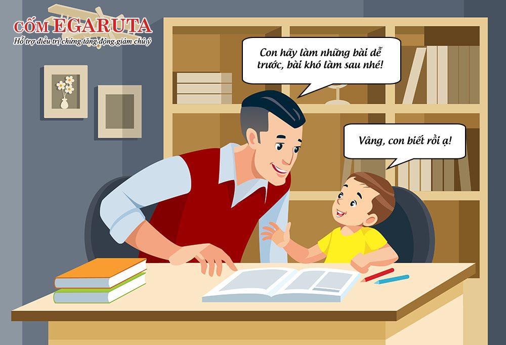 Cha mẹ nên giúp con biết cách sắp xếp thứ tự thực hiện các công việc